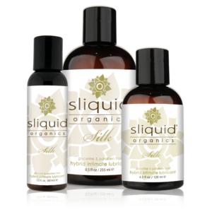 Botellas de diferentes tamaños del lubricante Organic silk hybrid
