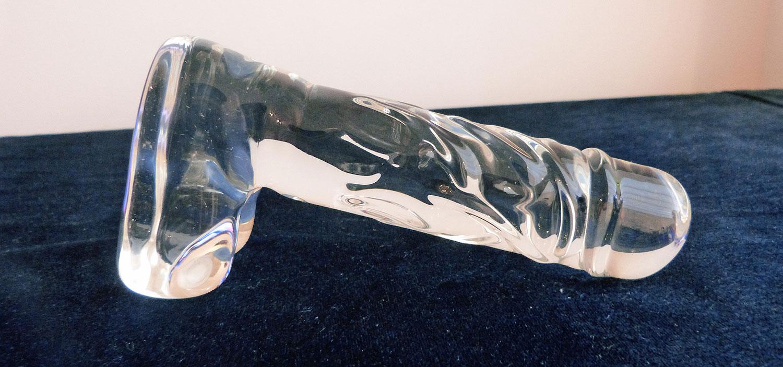 Consolador de vidrio transparente realista Icicles No. 40