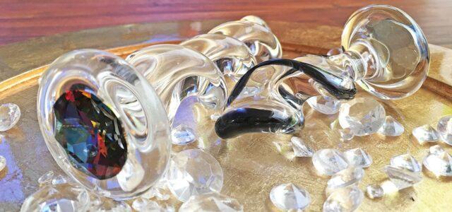 Plug anal y consolador Crystal Delights Twist Glass